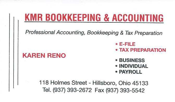 Kmr bookkeeping and accounting business card for kmr reheart Image collections